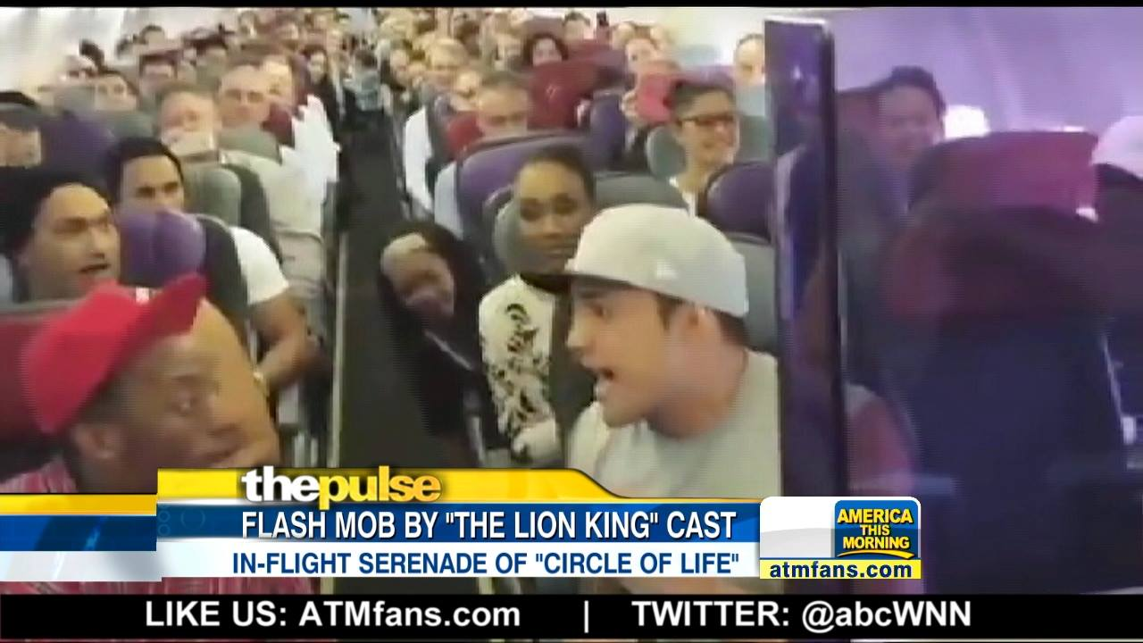 """Lion King"" Cast Sings on Plane"